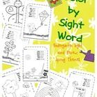 Sight Word Coloring Kindergarten Sight Words Spring Theme $2.00