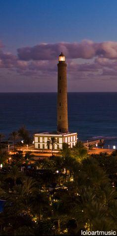 Maspalomas lighthouse, Gran Canaria, Spain