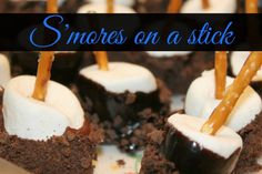 S'mores on a stick.  Easy, delicious, wholesome.  #ThisIsWholesome #sp @HoneyMaidSnacks