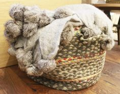 Basket with blankets - an easy way to beautify your space while creating a homey feel!