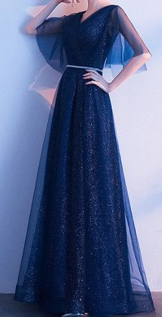 Stunning Beautiful Dark Blue Navy Evening Maxi Dress Long For Elegant Ladies and classy women. Perfect for formal dinners, cocktail party, bridesmaid, prom, ball and evening. Elegant Dresses Classy, Classy Dress, Stunning Dresses, Beautiful Gowns, Evening Dresses, Ball Dresses, Cute Dresses, Ball Gowns, Short Dresses