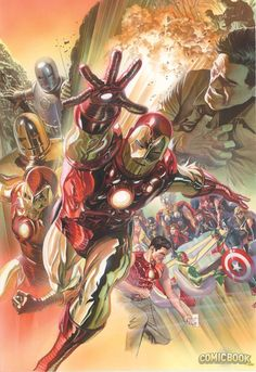 Superior Iron Man #1 variant cover by Alex Ross *