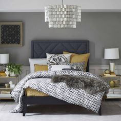 Navy blue and grey bedroom blue gray yellow bedroom blue and yellow bedroom blue yellow and . navy blue and grey bedroom blue gray bedroom ideas Bedroom Color Schemes, Bedroom Colors, Home Decor Bedroom, Bedroom Yellow, Yellow Walls, Bedroom Ideas Grey, Bedroom Furniture, Mustard And Grey Bedroom, Yellow Bedding