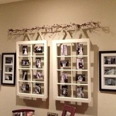 painting frame ideas | Old window frame used as picture frame