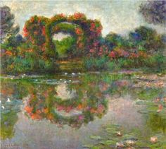 Rose Flowered Arches at Giverny - Claude Monet