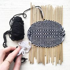 I've had a quiet obsession with this Tibetan form of weaving over the past year. Nomads of Tibet weave these tiny pieces to form the base of a traditional slingshot they use to herd + protect their yak. Back in Tibet last May, I visited our partner workshop hoping the oldest and most badass lady artisans could finally teach me. When I got there they were gone, all had taken off for the high mountains for the annual mushroom harvest. So over the past few months I've been learning from my