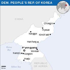 Mapa da República Popular Democrática da Coreia