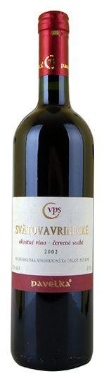 2002 Pavelka Svätovavrinecké, červené suché , Slovensko http://101corks.sk/8588000522712-2002_Pavelka-Svatovavrinecke