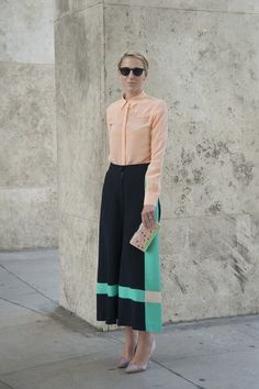 street style - with easy polish and all the right colors, you can wear this look again and again to the office...