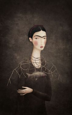 Illustration by Luis Gabriel Pacheco for Frida Kahlo, a possible History by Maria Baranda