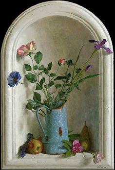 Цветочные натюрморты голландца Kenne Grégoire (1951)
