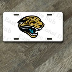 Jacksonville Jaguars Chevron Bottom Only Metal Acrylic Cut License Plate Frame