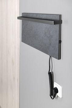 ELMIS elektrický sušák ručníků 600x300mm, 80W, antracit : SAPHO E-shop Radiators, Bathroom Hooks, Shopping, Radiant Heaters