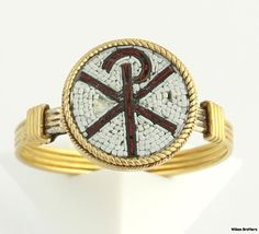 Micro Mosiac Ring Antique Rare Chi Rho High by WilsonBrothers, $299.99
