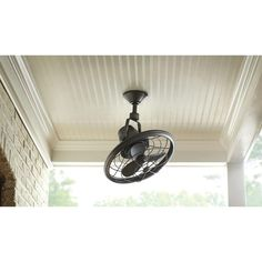 Wall Mounted Indoor Outdoor Fan Nickel Finish Bronze Finish And