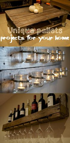 Unique pallets projects for your home