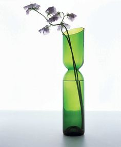 Force of Nature. Designed from recycled glass by Studio Tord Boontje and Emma Woffenden, the tranSglass Double Vase | Green Home Decor | Organic Spa Magazine