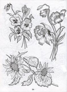 Gallery.ru / Фото #198 - Рисунки для вышивки лентами и гладью - Vladikana