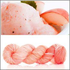 Expression Fiber Arts Yarn - PEACH GELATO SUPERWASH DEWY DK, $23.00 (http://www.expressionfiberarts.com/products/peach-gelato-superwash-dewy-dk.html)
