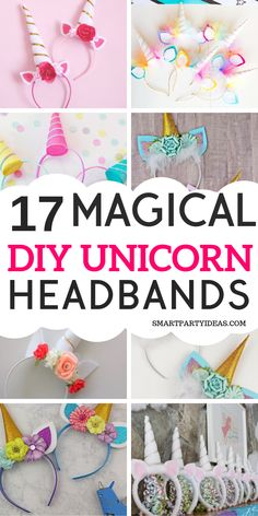 17 Gorgeous DIY Unicorn Party Headbands - Smart Party Ideas Make your unicorn themed birthday party even more magical with one of these goreous DIY Unicorn headbands. Easy & cheap to make these headbands are a hit! Unicorn Themed Birthday Party, Kids Birthday Themes, Birthday Diy, Unicorn Birthday Parties, Birthday Party Decorations, Diy Unicorn Headband, Daisy, Party Activities, Party Games