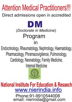Direct Admission to DM programs:-