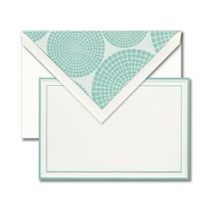 Mint: Every wardrobe staple deserves the perfect statement piece. Bordered in fresh mint, this card pairs perfectly with a mosaic liner in matching hues.
