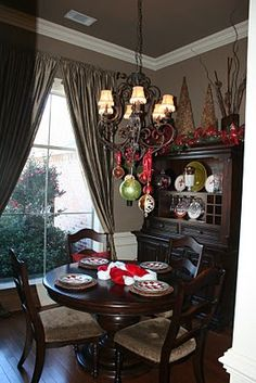 {Top of dining room hutch}