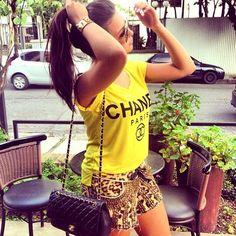 love the Chanel shirt <3