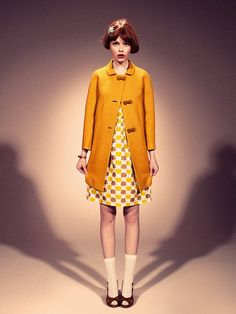 Lazzari - love the mustard coat, love that this looks straight out of Moonrise Kingdom