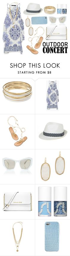 """""""Outdoor Summer Concert"""" by ittie-kittie ❤ liked on Polyvore featuring Jennifer Lopez, Zara, Magid, Prism, Kendra Scott, MICHAEL Michael Kors, Uslu Airlines, Vince Camuto, 2Me Style and outdoorconcert"""