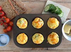 Omelett i muffinsformer - FAMILIEMATBLOGG Egg And I, Chorizo, Brunch, Food And Drink, Eggs, Breakfast, Omelette, Morning Coffee, Egg