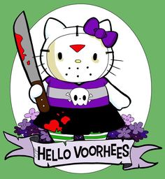 Friday the 13th Hello Voorhees #HelloKitty
