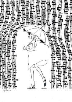"""Draw the music"" Music Drawings, Music Artwork, Cute Drawings, Rain Music, Piano Art, Photographie Portrait Inspiration, Music Score, Music Humor, Music Notes"
