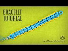 Macramé Summer Bracelet Tutorial by Macrame School - YouTube