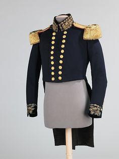 Military jacket Manufacturer: C. Webb Date: ca. 1862 Culture: British Medium: wool, silk, leather, metal Accession Number: 2009.300.2977a–c