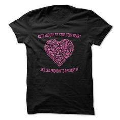 Cute Enough To Stop Your Heart, Pink Nurse T Shirt Hoodie, Tee Shirts ==► Shopping Now!
