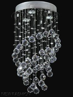 Modern Annularity Crystal droplet Ceiling Light Pendant Lamp Chandelier