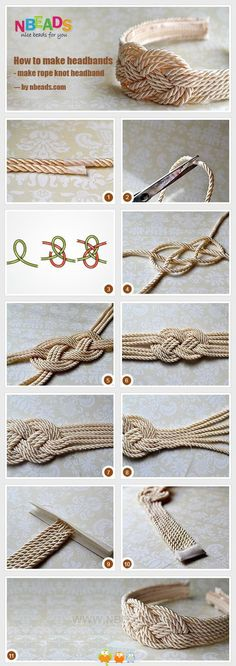 Diy maritimes Haarband