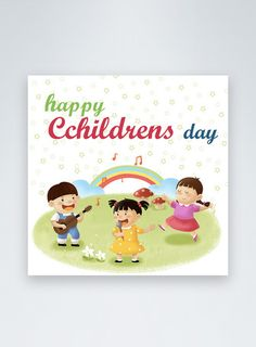 Cartoon children's day social media post happy childrens day,grassland,social media ,discount,children, children day happy background bird celebrate ,colourful,daycolorful#Lovepik#template