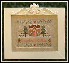 Country Cottage Needleworks - Gingerbread Cottage  - Cross Stitch Pattern