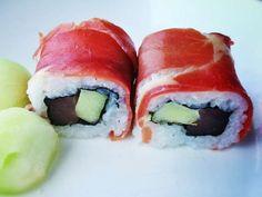 Sushi recept: Tapas sushi met tonijn, rauwe ham en meloen! #sushi