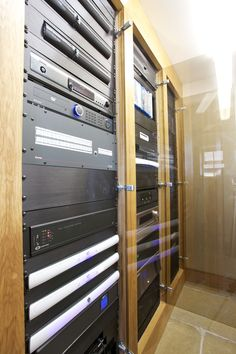 The home automation and control rack from Finite Solutions' #luxury barn conversion