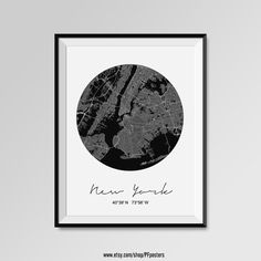 NEW YORK map poster. Modern, Minimalistic NEW YORK Map by PFposters.  More styles - New York - maps on the link below https://www.etsy.com/shop/PFposters?search_query=new+york