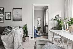 Soft grey tones in a Stockholm apartment via Swedish broker SkandiaMäklarna | Styling by Jesper Laursen | Photo by Adam HelbaouiFollow Style and Create at Instagram | Pinterest | Facebook | Bloglovin