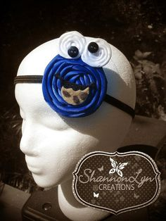 Cookie Monster inspired Rosette headband by ShannonLynCreations