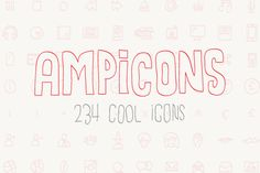 Ampicons / 234 brushed icons