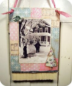 """""""Home For The Holidays"""" vintage photo collage"""