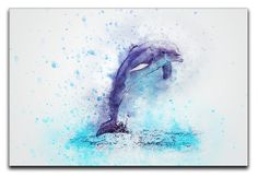 Dolphin Or Poster Full Hd Personalized Customized Canvas Art Wall Art Wall Decor