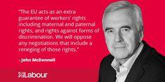 John McDonnell sets out Labour's economic response to Brexit.