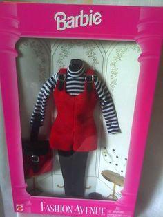1995 Fashion Avenue Barbie Doll Corduroy Jumper (i had this!):